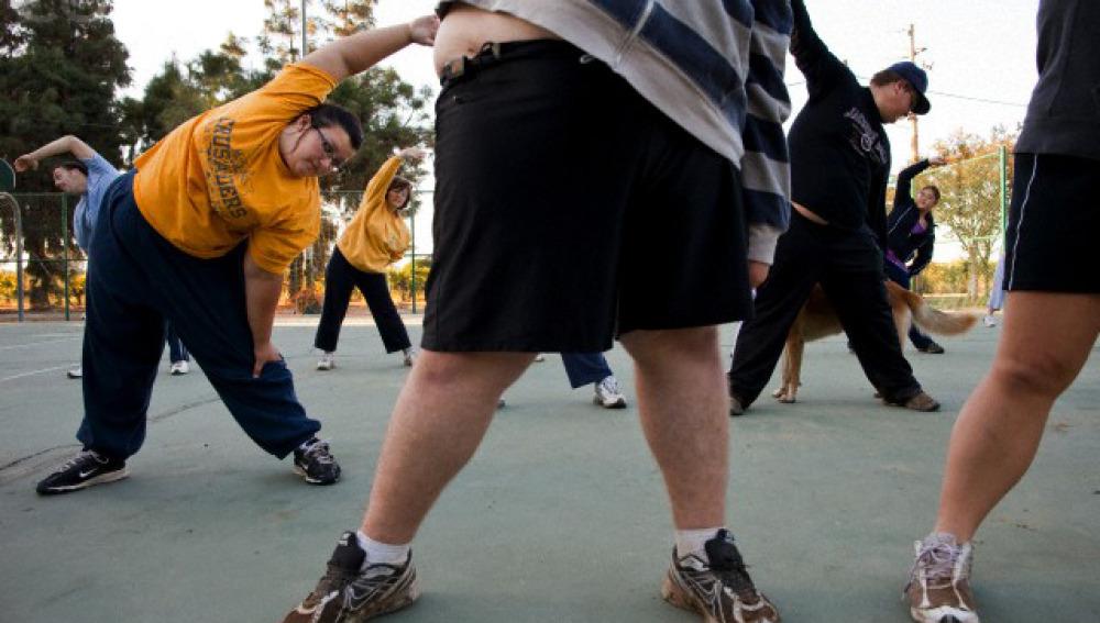 Obesos ejercicio