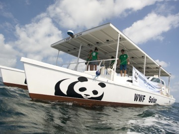 Catamarán solar