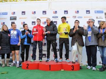 Los premiados en la modalidad de 10 km de la 5ª carrera Ponle Freno