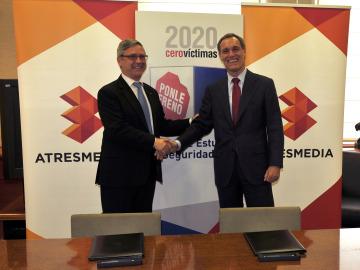 Los consejeros delegados de AXA y Atresmedia con 2020 Cero Víctimas