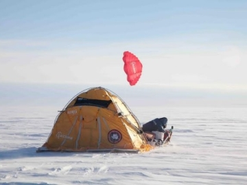 Trineo eólico Groenlandia
