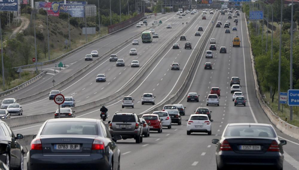 Tráfico en una carretera española