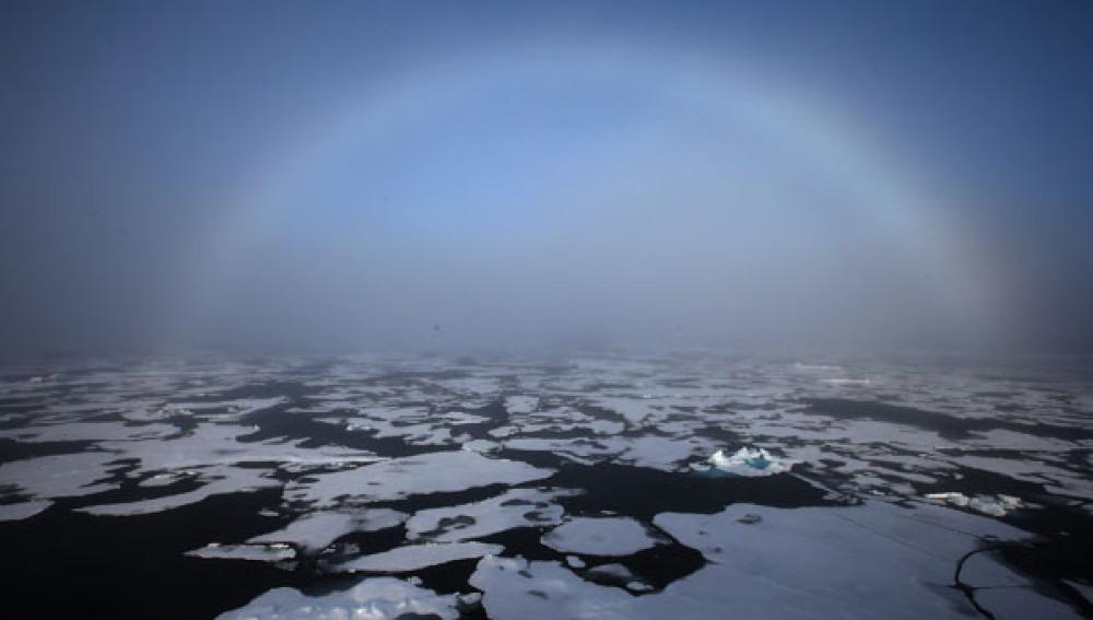 La capa de hielo del Ártico registra su sexto nivel más bajo