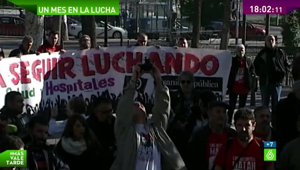 Protesta de enfermos de Hepatitis C