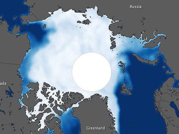 Pese al aumento de la Antártida el hielo ártico desaparece cada vez más deprisa