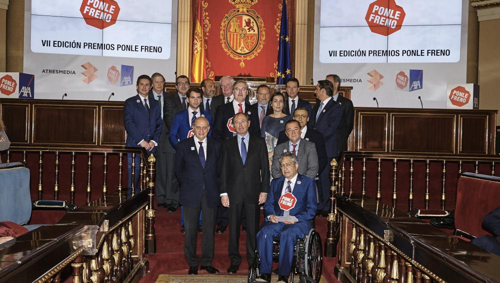 Premiados y algunos de los asistentes de los Premios Ponle Freno