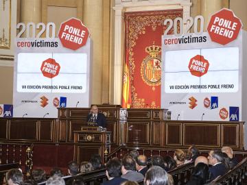 El ministro del Interior, Jorge Fernández, en los Premios Ponle Freno