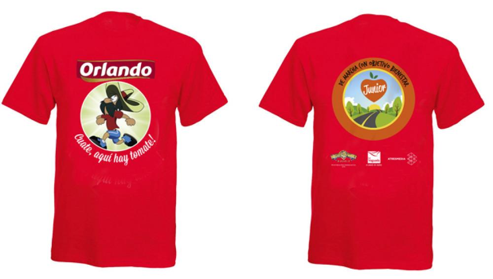 La camiseta de 'De marcha con Objetivo Bienestar 2015'