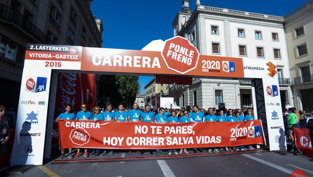 La salida de la II carrera Ponle Freno en Vitoria