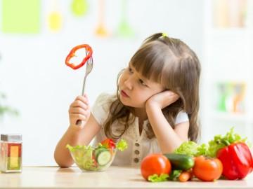 Las verduras, el alimento que menos gusta a los niños