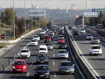 Tráfico en la A6 a su paso por Madrid
