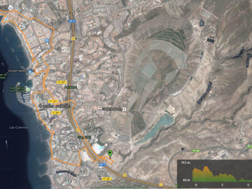 Recorrido 10 km Carrera Ponle Freno Canarias