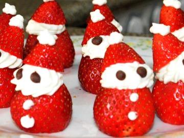 Fresas Papá Noel