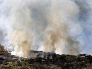 Incendio forestal en Cantabria