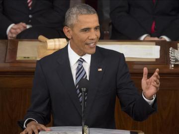 Obama en el discurso sobre el Estado de la Unión