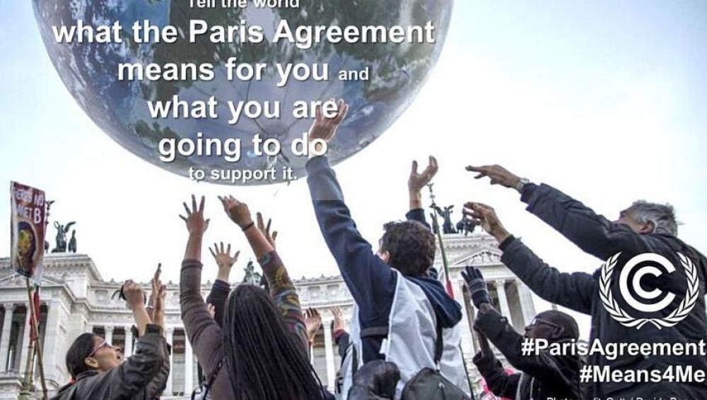 La ONU lanza una campaña en internet para apoyar la firma sobre el Cambio Climático