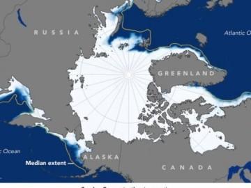 Mapa deshielo Océano Ártico