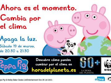 Peppa Pig se une a la Hora del Planeta y enseña hábitos para luchar contra el cambio climático