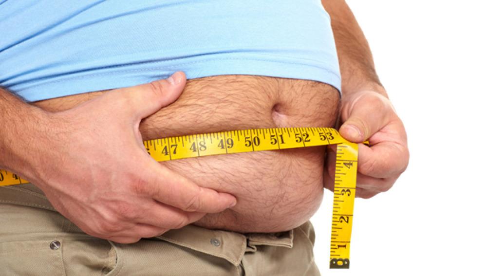Imagen de una persona obesa