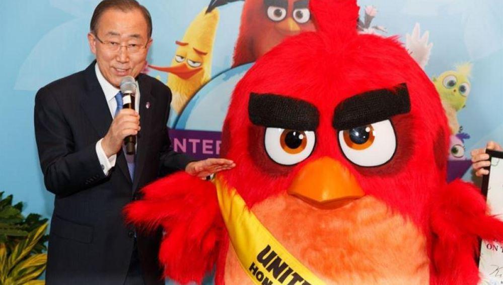 Ban Ki-moon nombra a Red, de los 'Angry Birds', embajador contra el cambio climático