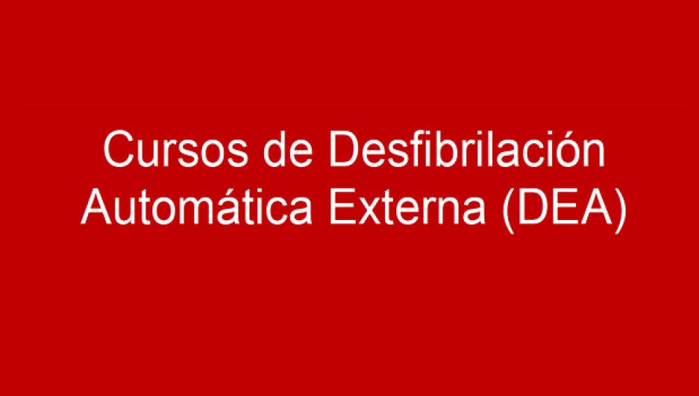 Cursos DEA Cruz Roja