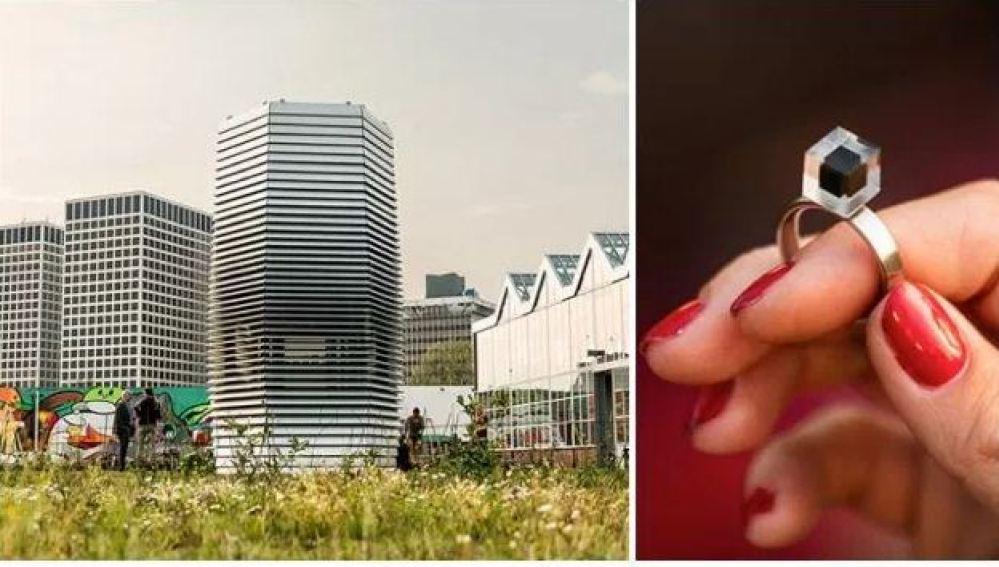 Un purificador de aire gigante convierte la contaminación del aire en pequeñas joyas