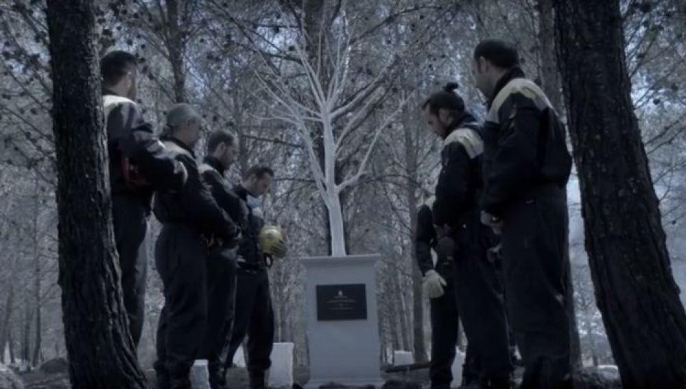 Los bomberos de la asociación '(Fo)rest in Peace' piden convertir los bosques en cementerios