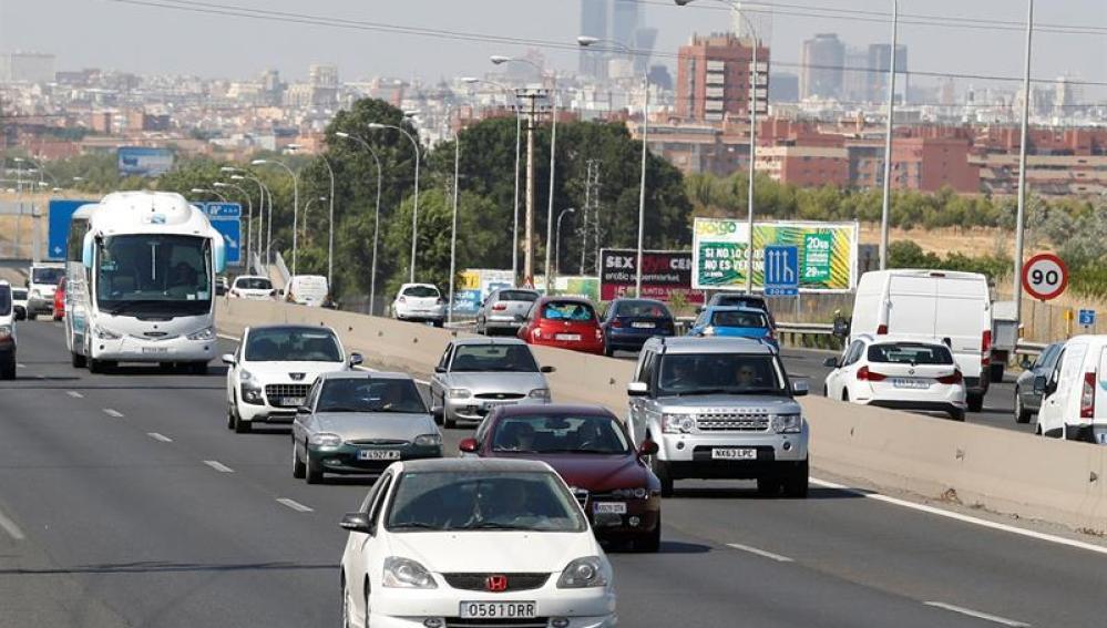 Tráfico en Madrid el fin de semana