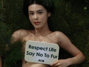 Desnudos contra el usos de pieles de animales en China
