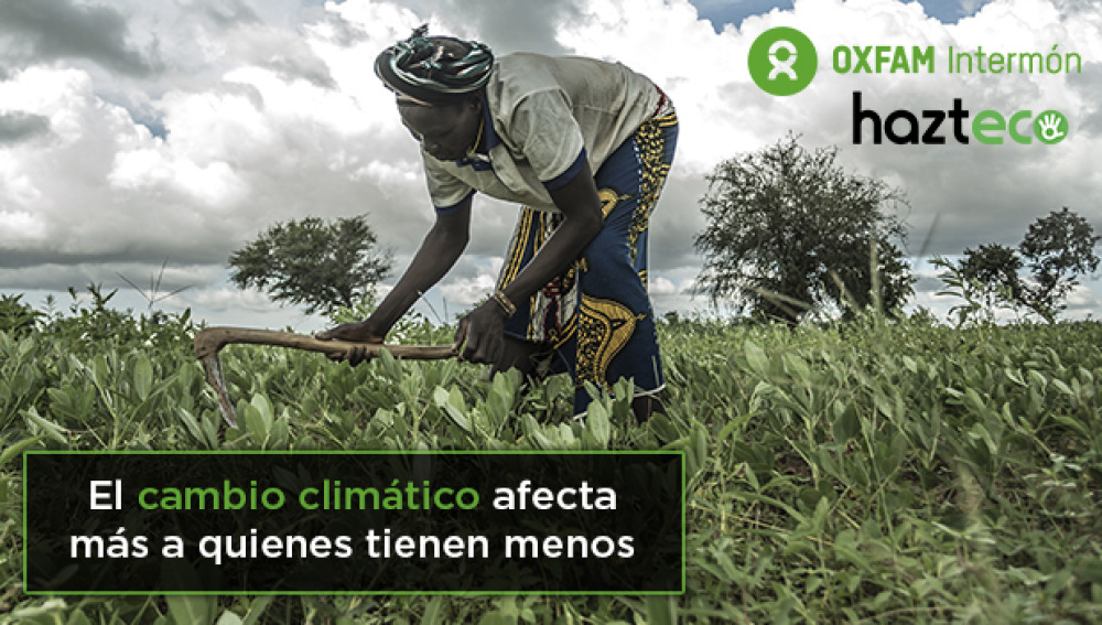 El cambio climático afecta a quienes tienen menos