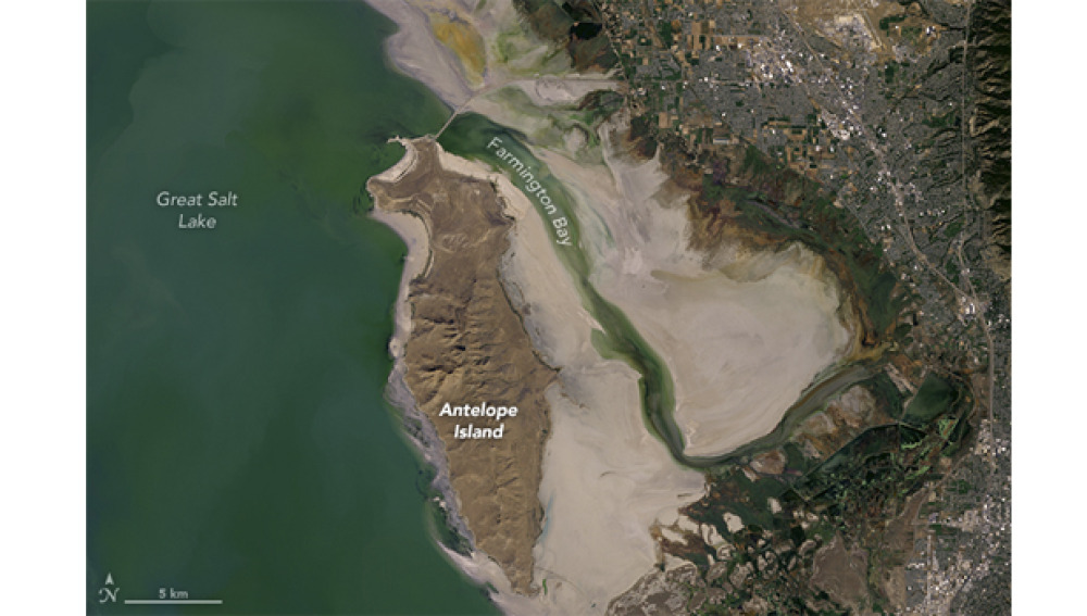 Gran Lago Salado, EE.UU. Foto tomada por satélite en octubre de 2016