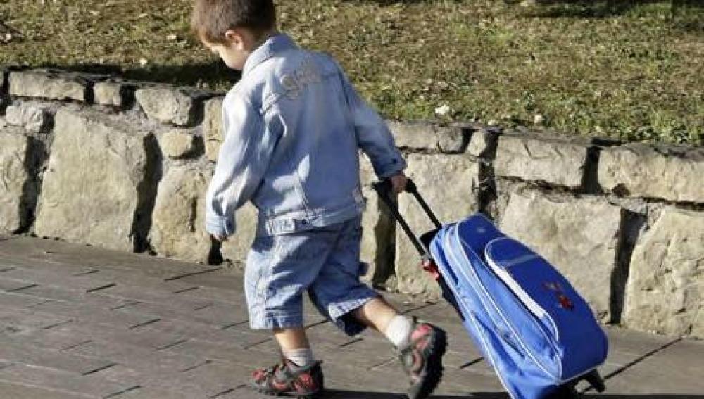 El carrito escolar es mejor para la espalda de los niños que la mochila