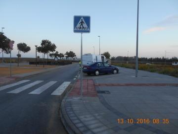 Señal en Jerez arreglada