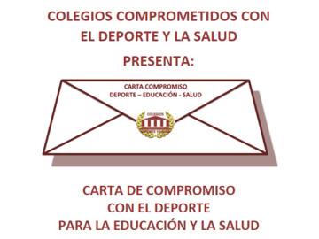 Colegios comprometidos con el deporte y la salud y su carta de compromiso