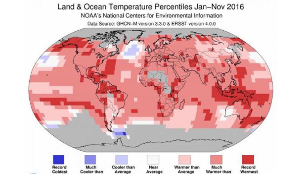 2016 puede convertirse en el año más cálido de la historia
