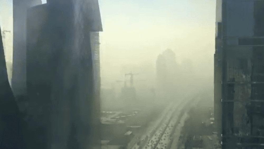 Este timelapse muestra como la ciudad de Pekín desaparece bajo una nube de contaminación