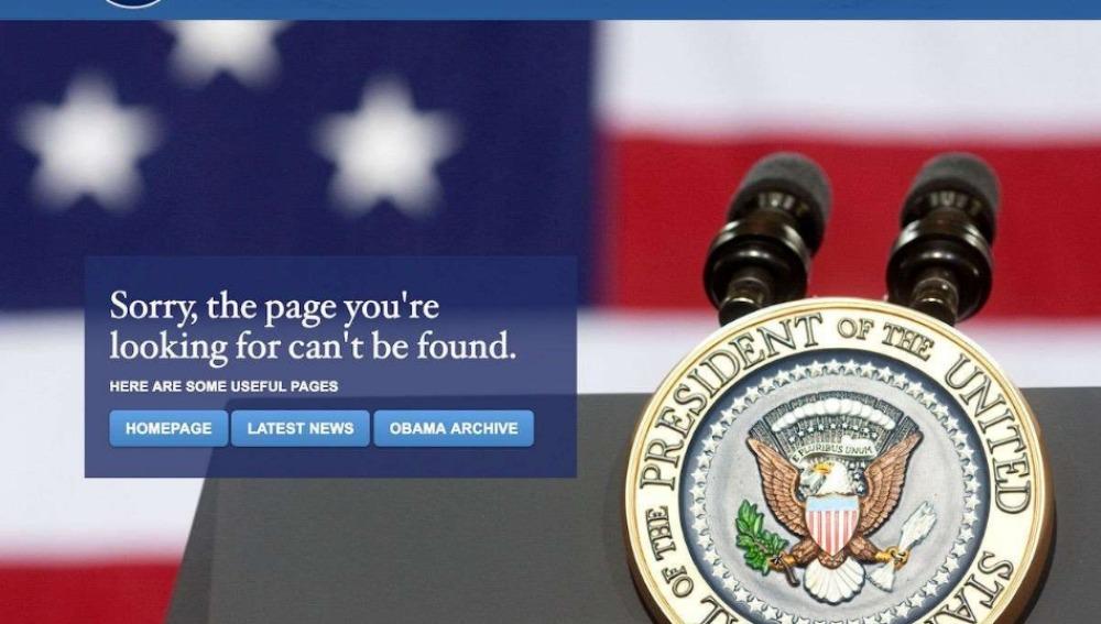 Desaparece de la web de la Casa Blanca todo lo relacionado al cambio climático