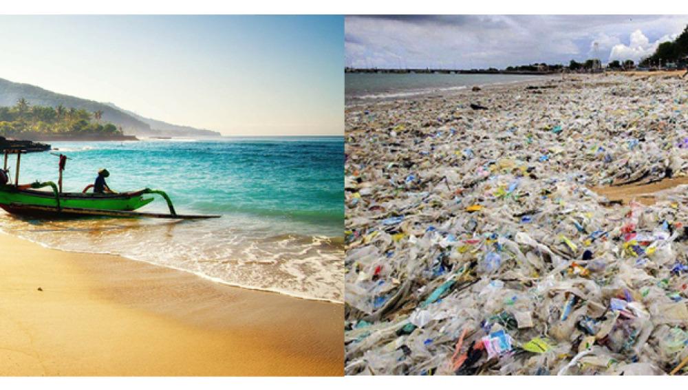 La contaminación de plástico amenaza a la paradisiaca Isla de Bali