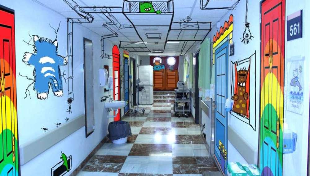 Estudiantes llenan de magia e ilusión el área de oncología del Hospital del Elche