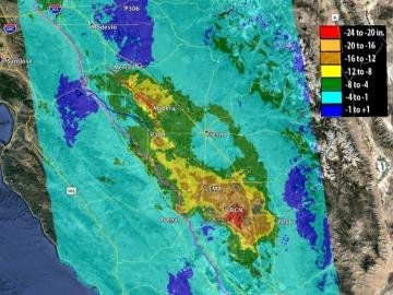 California se hunde debido al exceso en la extracción de agua subterránea