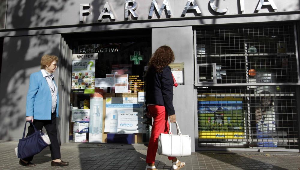 Farmacia en el centro de Barcelona