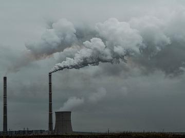 Central eléctrica contaminante