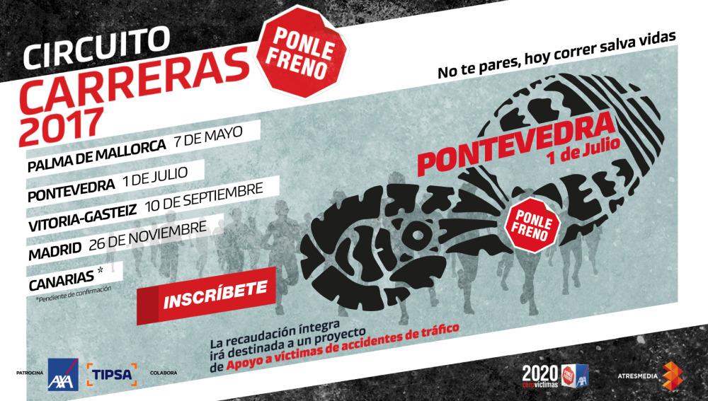 Cartel Carrera Ponle Freno Pontevedra