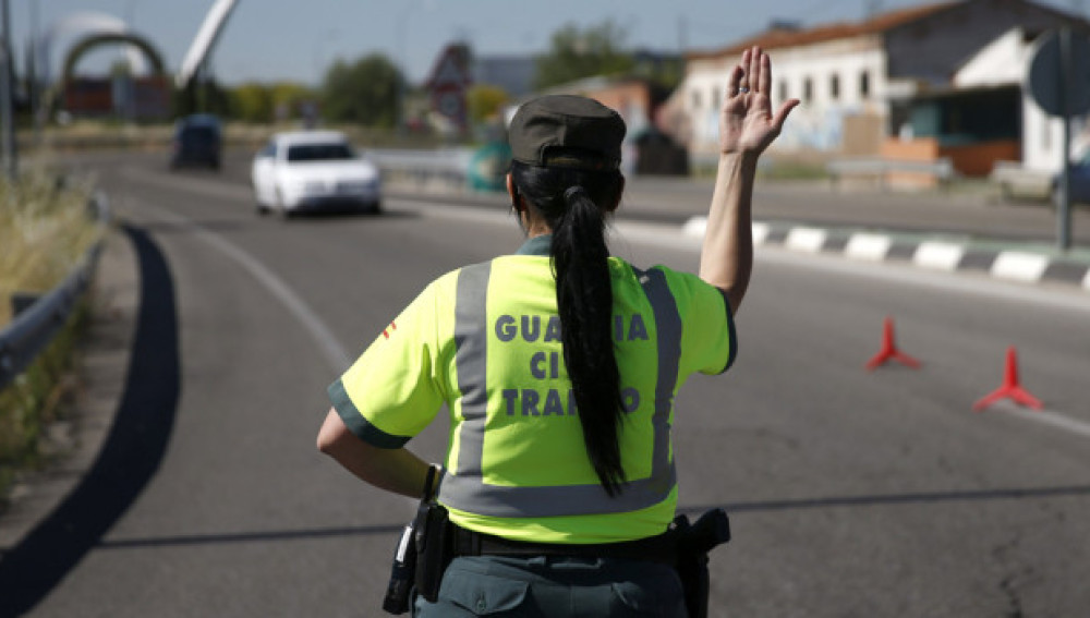 Una Guardia Civil de tráfico