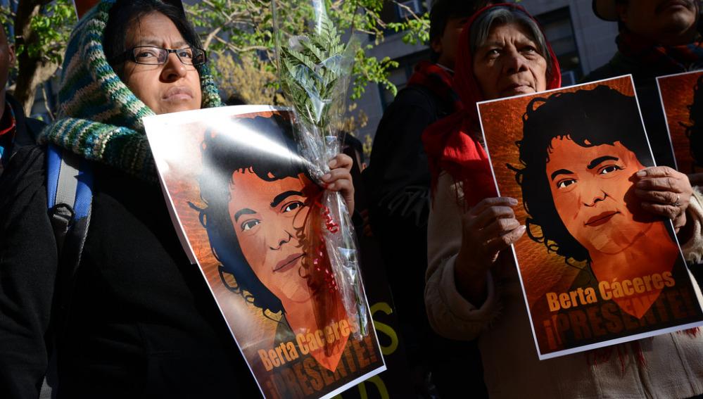 Imagen de archivo de la activista Berta Cáceres