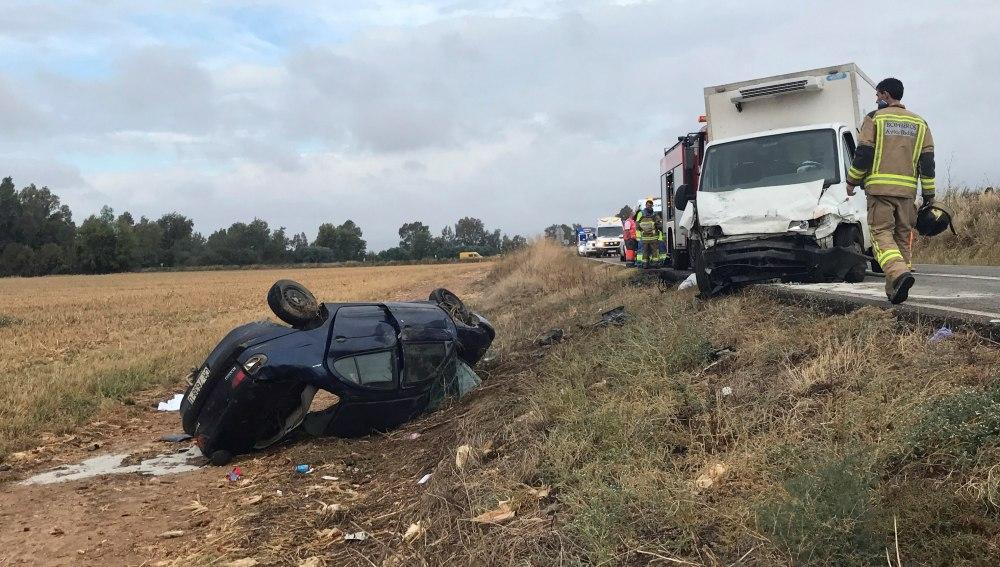El accidente en la carretera EX-209