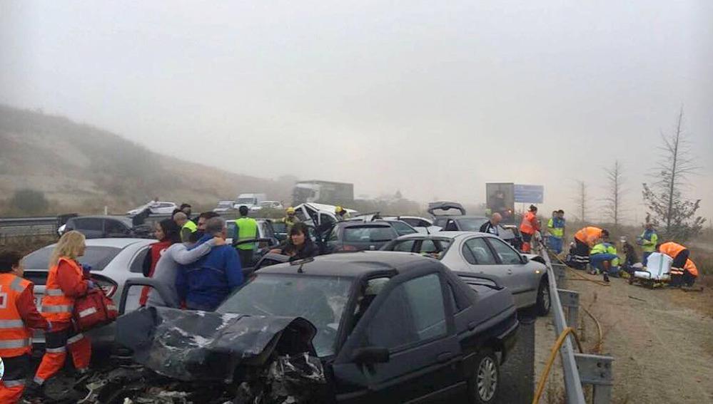 Imagen del accidente de tráfico en Cáceres