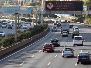 Imagen de vehículos circulando por la M30