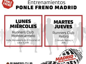 Entrenamientos para la 9ª Carrera Ponle Freno de Madrid