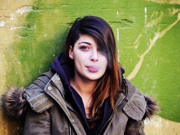 Mujer fumadora
